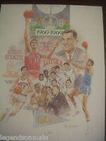 NCAA Final Four 1960-1969 Litho Signed by Kareem Abdul Jabbar/John Martin #/950