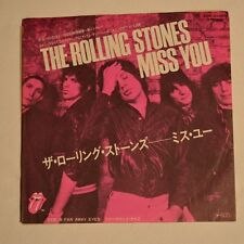 "ROLLING STONES - Miss you - 1978 JAPAN 7"" SINGLE PROMO SAMPLE"