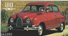 SAAB 96 / 9-6 850 GT SPEC SHEET / Brochure:1962,1963,1964,.......