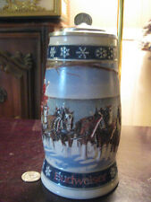 "1995 BUDWEISER HOLIDAY  STEIN ""LIGHTING THE  WAY   HOME"" SIGNED EDITION"