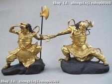 Myth 100% Bronze 24K Gold clairvoyant eyes & lairaudient warrior pair statue