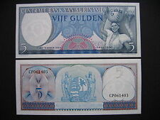 SURINAME  5 Gulden 1963  (P120b)  UNC