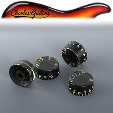 ARTE dell'invecchiamento Gibson Style Nera velocità Manopole Set Di 4 (aa33014)