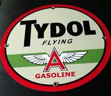 Tydol Flying A Gas Oil gasoline sign