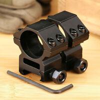 "2Pcs 25.4mm/1"" Inch Scope Ring Medium Profile 20mm Picatinny Weaver Rail Mount"