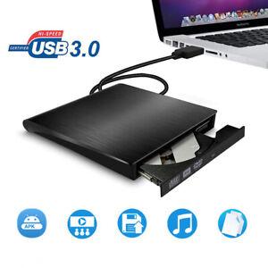 USB 3.0 Ultra Slim External DVD/CD RW Combo Burner ROM Drive & Blue-Ray Disc AU