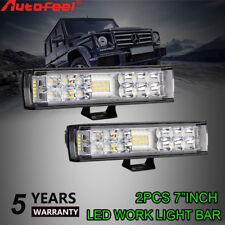 "Pair Autofeel 7inch 816W Led Light Bar Super Slim Combo Spot Flood Suv Truck 6"""