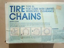 """CAMBELL TIRE CHAINS MUD SNOW ICE CLASS """"S"""" #1138"""
