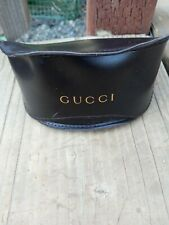 GUCCI LARGE BROWN FLIP TOP SUNGLASSES CASE WITH CLEANING CLOTH