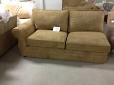 Pottery Barn Pearce Couch Sofa Sectional Nutmeg Suede Left Arm Loveseat
