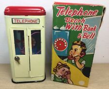 ALL ORIGINAL TELEPHONE BOOTH BANK WITH BELL MINT CONDITION JAPAN 1950