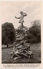 LONDON - Kensington Gardens Peter Pan Statue Real Photo Postcard rppc - England