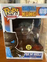 Special Edition Funko Pop Heat Ray Godzilla Godzilla Vs Kong GITD 1018