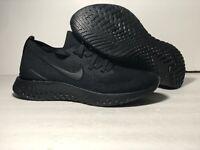 Nike Epic React Flyknit 2  Mens Running Triple Black Multiple Sizes BQ8928-011