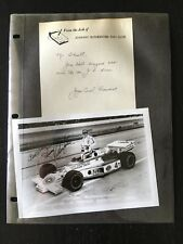 """1978 JOHNNY RUTHERFORD INDYCAR DRIVER FACSIMILE SIGNED 5X7"""" FAN CLUB PHOTO 11619"""