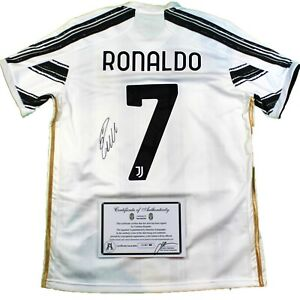 *NEW* 2021 CRISTIANO RONALDO #7 SIGNED JUVENTUS ADIDAS® JERSEY w/COA Autographed