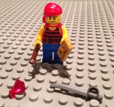NEW / Lego Pirate Mini- Figure / Ship Crew / W-4 Accessories / Red Shirt / 70412