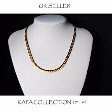 Gold Chain Men Womens 17 inch 18ct Gold Plated Necklace 2mm thick Curb Chain  A6