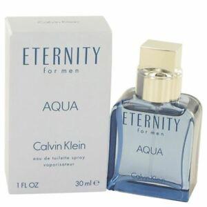 Cologne Eternity Aqua by Calvin Klein 1 oz Eau De Toilette Spray  for Men