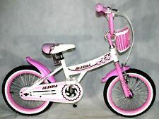 16 Zoll Kinderfahrrad Rücktrittbremse Kinderrad Fahrrad Pink Alufelgen Korb Neu