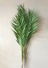 Large Artificial Palm Bush leaves, Faux Greenery, Realistic Tall Fake Leaves