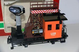 LGB 4049 Track Maintenance  & Searchlight Car with Box Metal Wheels German manuf