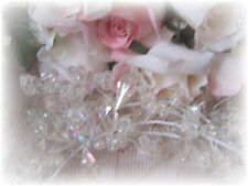 Crystal Clear Victoria Lynn BEADED GARLAND Wreath Christmas Decor