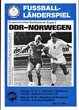 Länderspiel 28.10.1987 DDR - Norwegen in Magdeburg, EM-Qualifikation