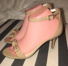 Circus by Sam Edelman Women Pandora Heels Shoes Sandal Faux Patent Leather Sz 8