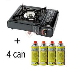 NEW 4x BUTANE GAS BOTTLES + STOVE CANISTERS PORTABLE COOKERS GRILL HEATERS