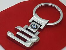 BMW Beemer 3 Series Car Logo Metal Keyring with Red Velvet Gift Pouch [3 Series]
