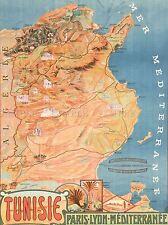 Mappa viaggio nave Africa RENOIR TUNISIE Viaggi Arte Poster Stampa lv4061