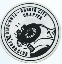 Rubber city chapter Penn-Ohio 'A' Ford club patch Cuyahoga Falls, OH 8 in dia