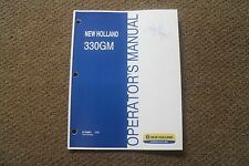 Operators Manual For New Holland 330gm 3pt Finishing Mowers 87758961