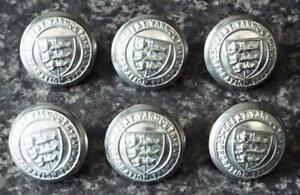 Great Yarmouth Corporation Tramways Buttons Antique Vintage Set of Six Buttons