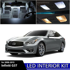 15PCS White Interior LED Light Package Kit for 2008-2015 Infiniti G37 or Q50