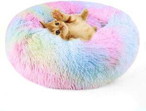 Pet Cat Beds Lovely Unicorn Cushion Rainbow Colour Warm Fluffy Animals Pet Mats