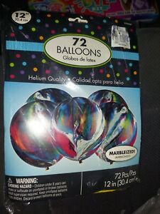 Party 72 Balloons 12 inch Marbleized