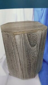Naturholz Urne grau neu Bestatternachlass