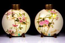 Antique Original Earthenware Date-Lined Ceramic Vases