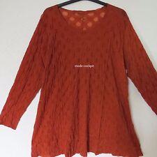 BORIS INDUSTRIES  Lagenlook Tunika Long Shirt Stretch Tüll rost 50-54 (3)