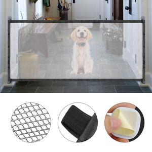 Mesh Pet Dog Gate Door 6ft Barrier Safe Guard Fence Enclosure Easy Install
