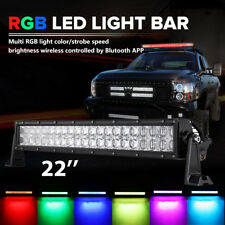 """5D 22""""inch RGB Led Light Bar 16 Colors Changing Bluetooth For Jeep Off-Roads SUV"""