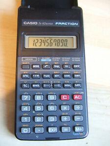Retro Casio FX-82 FX82 Super Fraction Calculator with Flip Cover