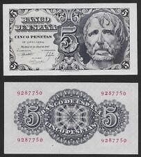 """5 Pesetas 1947 """"Séneca"""". Sin serie nº 9287750. SIN CIRCULAR PLANCHA. RARO."""