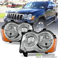 [Halogen] 2008-2010 Jeep Grand Cherokee Factory Headlights Headlamps Left+Right