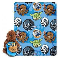 Star Wars Chewbacca Hugger Pillow Blanket Combo Gift Set Fleece Throw NEW