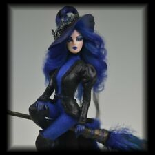 OOAK Halloween Gothic Witch Pinup Fantasy Polymer Art Doll Sculpture cbcstudio