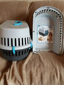 Trasportino Small Animal Pet Carrier New Colours Grey, Brown And Blue New