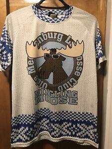 OLDE MECKLENBURG LACROSSE CLUB ~ XL ~ MINGLING MOOSE Shirt Jersey W FREE US SHIP